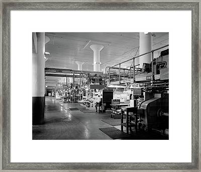 1930s 1940s Machinery In A Factory Framed Print