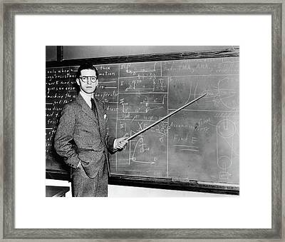 1930s 1940s Man Teacher Professor Framed Print