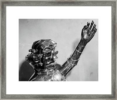 1930s 1940s Metal Robot Head And Chest Framed Print