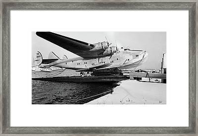 1930s 1940s Pan American Airways Flying Framed Print