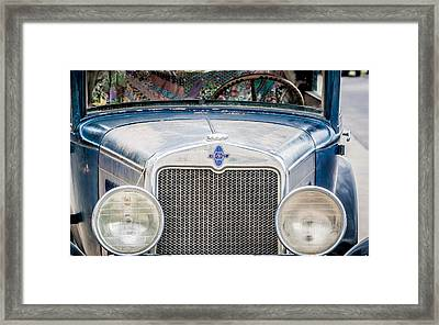1930's Chevy Headlights Framed Print by Dawn Romine