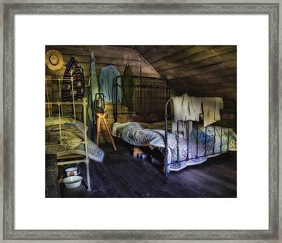 1930's Country Bedroom  Framed Print by Steve Hurt