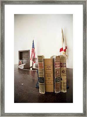 1930s Era Alabama Law Books Framed Print by Panoramic Images