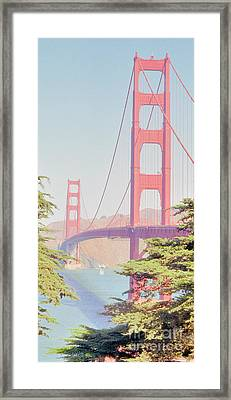Framed Print featuring the photograph 1930s Golden Gate by Nigel Fletcher-Jones