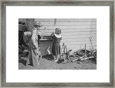 1930's Kids Playing Framed Print