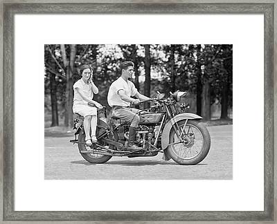 1930s Motorcycle Touring Framed Print