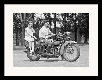 Old Motorcycle Framed Prints