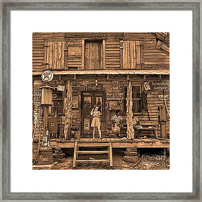1930s Old South General Store Framed Print