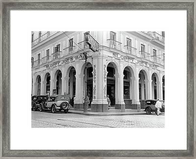 1930s Outside Facade Of Sloppy Joes Bar Framed Print