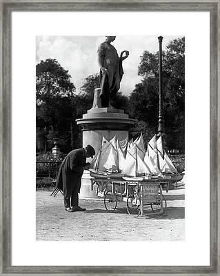 1930s Paris France Tuileries Gardens Framed Print