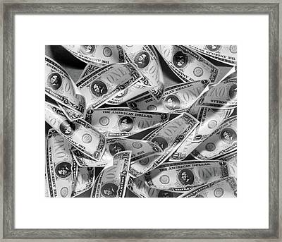 1930s Phony Fake American Stage Money Framed Print