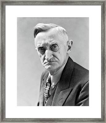 1930s Portrait Of Frowning Elderly Man Framed Print