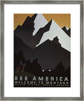Framed Print featuring the painting 1930's See America by American Classic Art