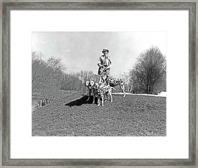 1930s Smiling Woman Walking Four Framed Print