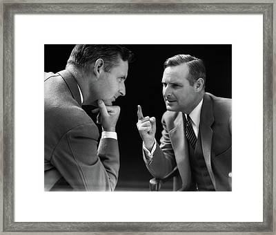 1930s Special Effect Of Man Talking Framed Print