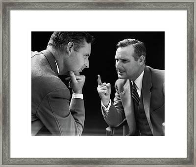 1930s Special Effect Of Man Talking Framed Print
