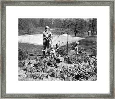 1930s Sporty Woman Wearing Jodhpurs Framed Print