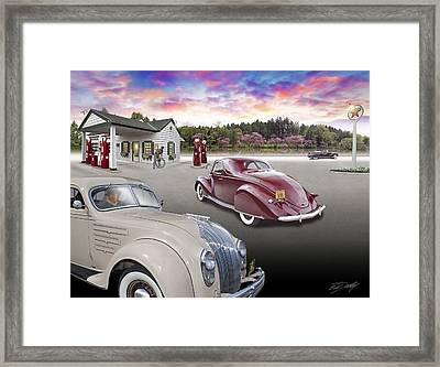 1930s - 40s Texaco Station Framed Print