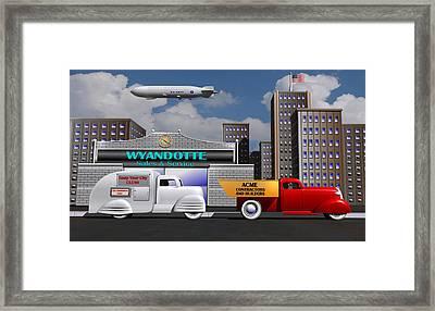 1930s Toy Trucks Framed Print by Stuart Swartz