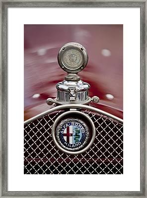 1931 Alfa-romeo Hood Ornament Framed Print by Jill Reger