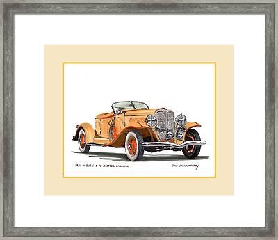 Auburn 8 98 Boattail Speedster Framed Print by Jack Pumphrey