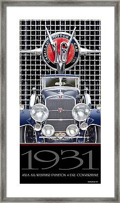 1931 Cadillac V-16 Phaeton Framed Print