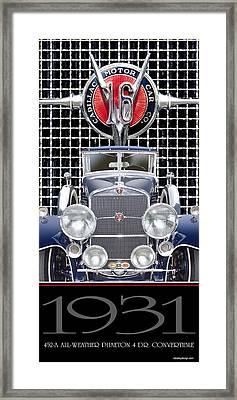 1931 Cadillac V-16 Phaeton Framed Print by Ed Dooley