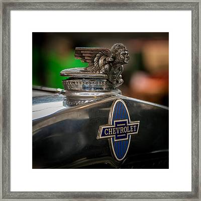 1931 Chevrolet Emblem Framed Print by Paul Freidlund