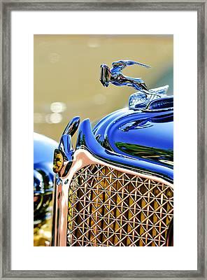 1931 Chrysler Cg Imperial Dual Cowl Phaeton Hood Ornament - Grille Framed Print