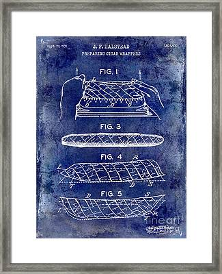 1931 Cigar Wrappers Patent Drawing Blue Framed Print