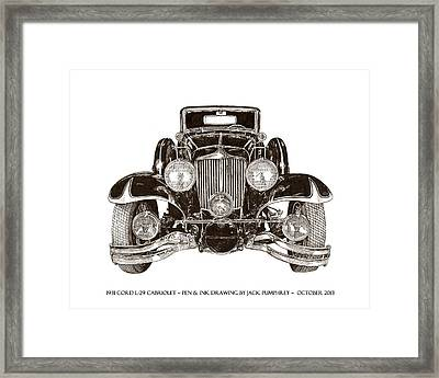 1931 Cord Cabriolet L 29 Framed Print