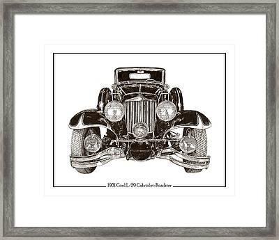 Cord L 29 Cabriolet 1931 Framed Print