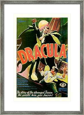 1931 Dracula Vintage Movie Art Framed Print by Presented By American Classic Art