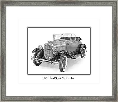 1931 Ford Convertible Framed Print by Jack Pumphrey