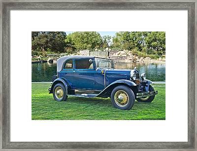 1931 Ford Model A 400 Convertible Sedan IIi Framed Print