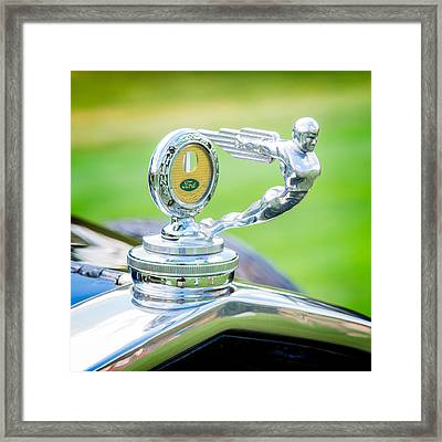 1931 Ford Model A Deluxe Fordor Hood Ornament Framed Print by Sebastian Musial