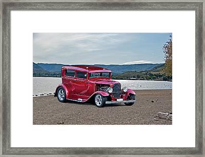 1931 Ford Model A Sedan Framed Print by Dave Koontz