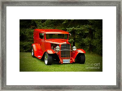 1931 Ford Panel Delivery Truck Framed Print by Inspired Nature Photography Fine Art Photography