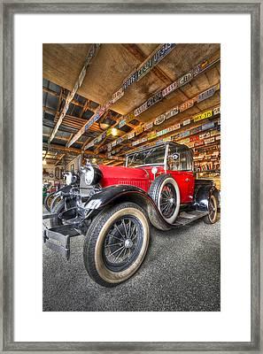 1931 Ford Pick-up Framed Print by Debra and Dave Vanderlaan