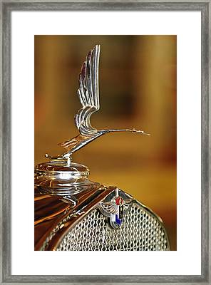 1931 Lasalle Hood Ornament Framed Print