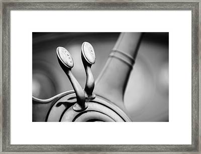 1931 Lincoln K Steering Wheel - Spark - Gas Controls -1865bw Framed Print by Jill Reger