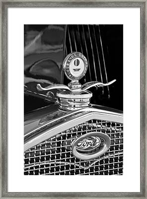 1931 Model A Ford Deluxe Roadster Hood Ornament 2 Framed Print