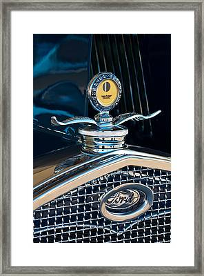 1931 Model A Ford Deluxe Roadster Hood Ornament Framed Print by Jill Reger