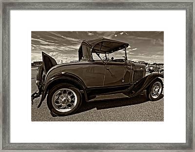 1931 Model T Ford Monochrome Framed Print by Steve Harrington