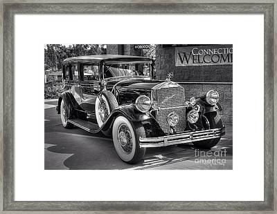 1931 Pierce Arrow Black And White Framed Print