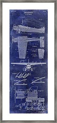 1932 Airplane Patent Drawing Blue1932 Airplane Patent Drawing Blue Framed Print