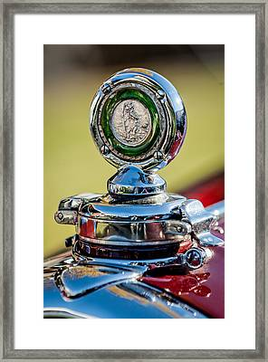 1932 Alfa Romeo 6c 1750 Series V Gran Sport Hood Ornament -0240c Framed Print