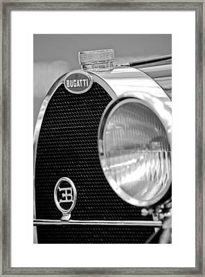 1932 Bugatti Type 55 Cabriolet Grille Emblems Framed Print by Jill Reger