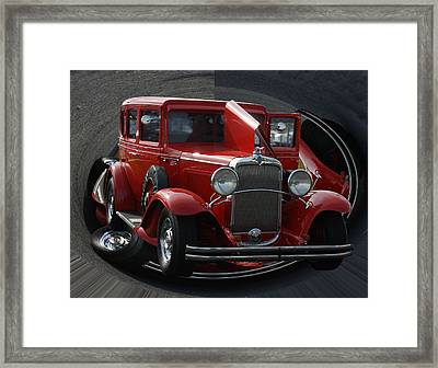Framed Print featuring the pyrography 1932 Chevrolet by B Wayne Mullins