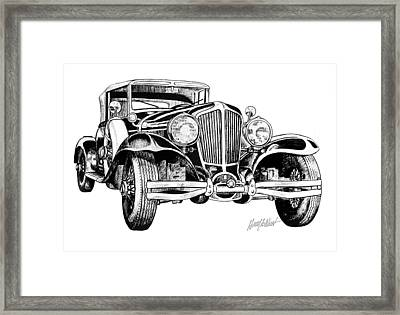 1930 Cord Framed Print by Harry West